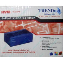 Видеосплиттер TRENDnet KVM TK-V400S (4-Port) в Орехово-Зуеве, разветвитель видеосигнала TRENDnet KVM TK-V400S (Орехово-Зуево)