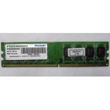 Модуль оперативной памяти 4Gb DDR2 Patriot PSD24G8002 pc-6400 (800MHz)  (Орехово-Зуево)