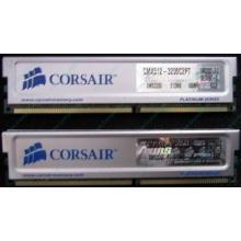 Память 2 шт по 512Mb DDR Corsair XMS3200 CMX512-3200C2PT XMS3202 V5.2 400MHz CL 2.0 0615197-0 Platinum Series (Орехово-Зуево)
